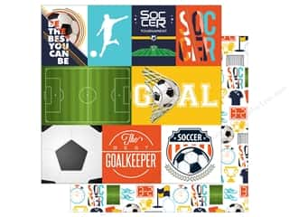 """Echo Park Collection Soccer Paper 12""""x 12"""" Journal Card (15 pieces)"""