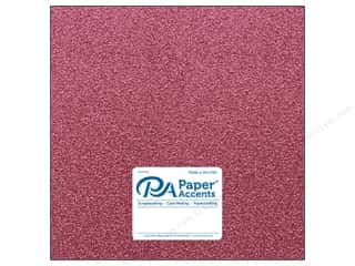 scrapbooking & paper crafts: Paper Accents Glitter Cardstock 12 x 12 in. #G01 Pink 15 pc.