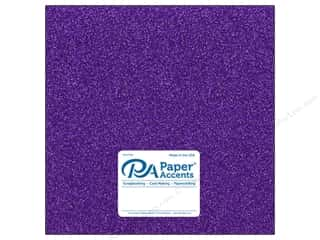 Paper Accents Glitter Cardstock 12 x 12 in. #G46 Grape Jam (15 pieces)