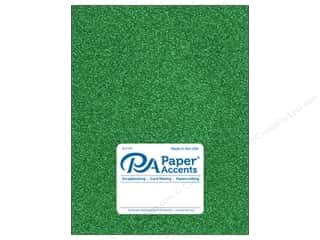 Paper Accents Glitter Cardstock 8 1/2 in. x 11 in. #G06 Green