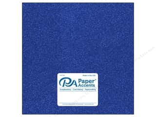 Paper Accents Glitter Cardstock 12 x 12 in. #G07 Jewel Blue (15 pieces)