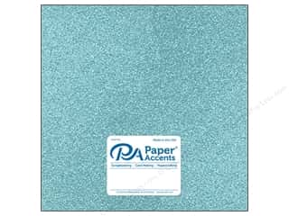 Paper Accents Glitter Cardstock 12 x 12 in. #G09 Sky Blue (15 pieces)