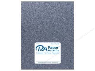 Paper Accents Glitter Cardstock 8 1/2 in. x 11 in. #G61 Onyx