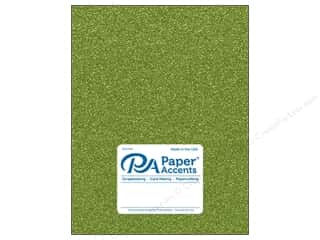Paper Accents Glitter Cardstock 8 1/2 in. x 11 in. #G25 Olive Green