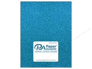 Paper Accents Glitter Cardstock 8 1/2 in. x 11 in. #G08 Ocean Blue