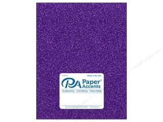 Paper Accents Glitter Cardstock 8 1/2 x 11 in. #G46 Grape Jam (15 pieces)