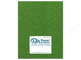 scrapbooking & paper crafts: Paper Accents Glitter Cardstock 8 1/2 x 11 in. #G52 Kiwi Green 15 pc.