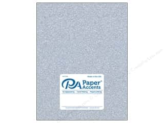 Paper Accents Glitter Cardstock 8 1/2 in. x 11 in. #G12 Silver
