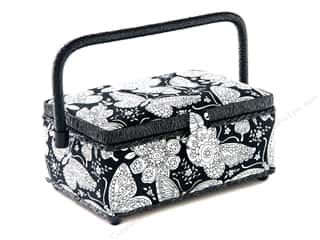 St Jane Sewing Baskets Small Rectangle Black & White