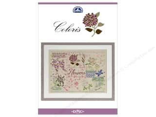DMC Coloris Cross Stitch Pattern Flowers Book