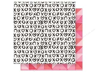"Crate Paper Collection Heart Day Paper 12""x 12"" Hugs & Kisses (25 pieces)"