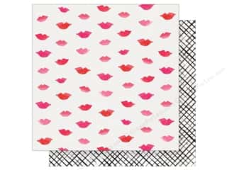 "scrapbooking & paper crafts: Crate Paper Collection Heart Day Paper 12""x 12"" Pucker Up (25 pieces)"