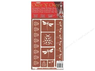 craft & hobbies: Armour Over 'N' Over Stencil Garden Friends