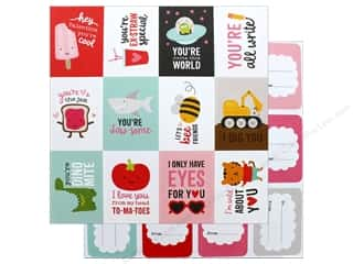 """Pebbles Collection My Funny Valentine Paper 12""""x 12"""" Funny Valentine (25 pieces)"""