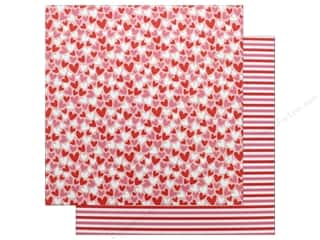 "Pebbles Collection My Funny Valentine Paper 12""x 12"" Heart Fest (25 pieces)"
