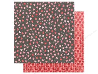 "Pebbles Collection My Funny Valentine Paper 12""x 12"" Scattered Hearts (25 pieces)"