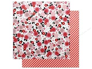 "Clearance: Pebbles Collection My Funny Valentine Paper 12""x 12"" Pretty In Pink (25 pieces)"