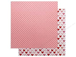 "Pebbles Collection My Funny Valentine Paper 12""x 12"" XOXO (25 pieces)"