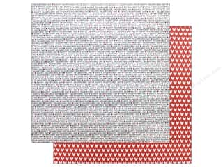 "Pebbles Collection My Funny Valentine Paper 12""x 12"" Happy Valentine's Day (25 pieces)"