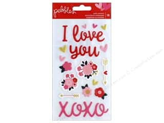 scrapbooking & paper crafts: Pebbles Collection My Funny Valentine Sticker Puffy Phrase