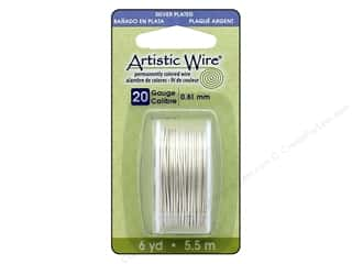 Artistic Wire 20 Gauge 6 yd Silver Plated Pearl Silver