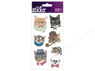 scrapbooking & paper crafts: EK Sticko Stickers Hipster Cats