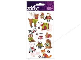 EK Sticko Stickers Holiday Sweater Animals