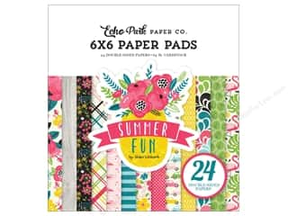 "Echo Park Collection Summer Fun Paper Pad 6""x 6"""