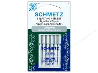 Schmetz Machine Quilting Needle Chrome Size 90/14 5pc
