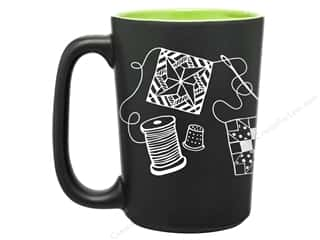 sewing & quilting: Happy Lines Quilt Mug Scribbles Lime Green