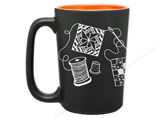 Happy Lines Quilt Mug Scribbles Orange