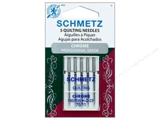 Schmetz Machine Quilting Needle Chrome Size 75/11 5 pc