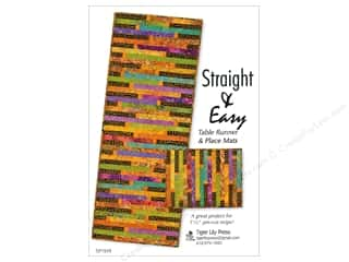 books & patterns: Tiger Lily Press Straight & Easy Table Runner Pattern