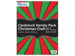 cardstock: Paper Accents Cardstock Variety Pack 8 1/2 x 11 in. Christmas 25 pc.