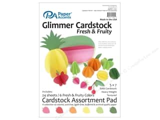 scrapbooking & paper crafts: Paper Accents 5 x 7 in. Cardstock Pad 24 pc. Fresh & Fruity