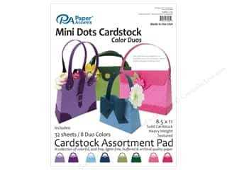 cardstock: Paper Accents 8 1/2 x 11 in. Cardstock Pad 32 pc. Mini Dots Color Duos