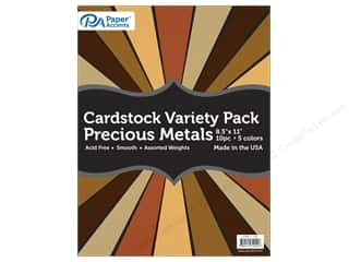 scrapbooking & paper crafts: Paper Accents Cardstock Variety Pack 8 1/2 x 11 in. Precious Metals 10 pc.