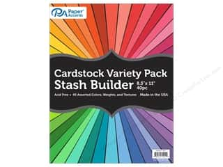 scrapbooking & paper crafts: Paper Accents Cardstock Variety Pack 8 1/2 x 11 in. Assorted 40 pc.