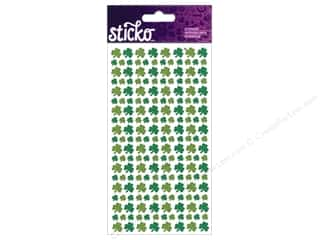 EK Sticko Stickers Glitter Shamrocks