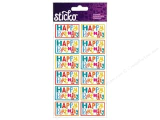 sentiment stickers: EK Sticko Stickers Birthday Sentiments