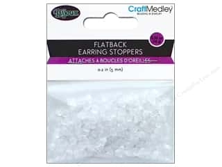 beading & jewelry making supplies: Multicraft Jewelry Findings Earring Back 5mm Flatback Rubber 200pc