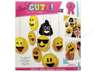 novelties: Colorbok Kit Sew Cute Mobile Kit Emoji
