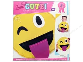 Colorbok Kit Sew Cute Pocket Pillow Emoji Tongue