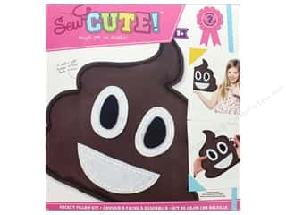 Colorbok Kit Sew Cute Pocket Pillow Emoji Poo