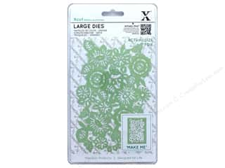 dies: Docrafts Xcut Large Die Floral Panel