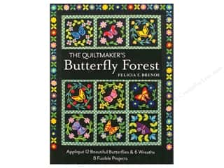 books & patterns: The Quiltmaker's Butterfly Forest: Applique 12 Beautiful Butterflies & Wreaths Book by Felicia T. Brenoe