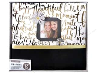 Clearance: K & Company 12 x 12 in. Scrapbook Window Album Gold Brushed Sentiments