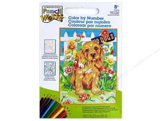 """Paintworks Color By Number 9""""x 12"""" Naughty Puppy"""