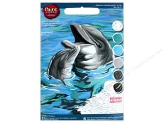 "Dimensions Paint By Number 8""x 10"" Dolphins Duo"