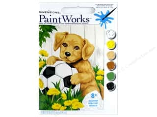 Dimensions PaintWorks Paint By Number 8 in. x 10 in. Puppy & Soccer Ball